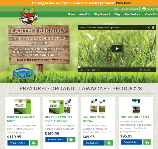 Firebelly organic lawn care