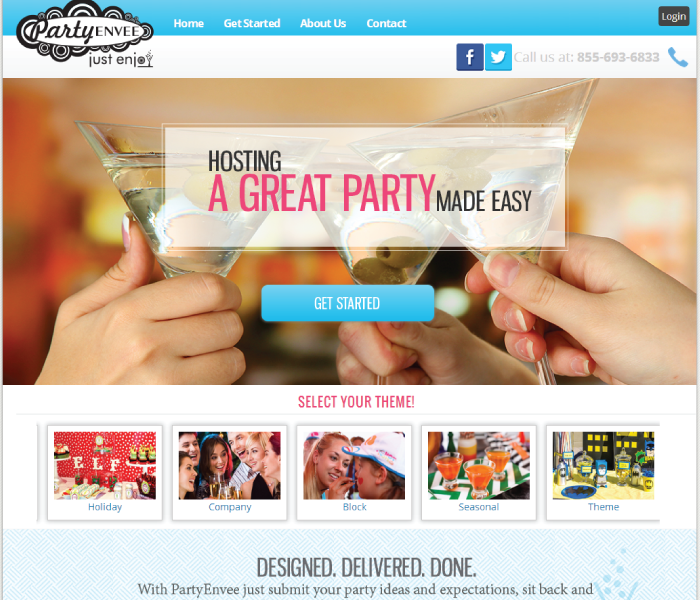 Partyenvee, Hosting a party made easy