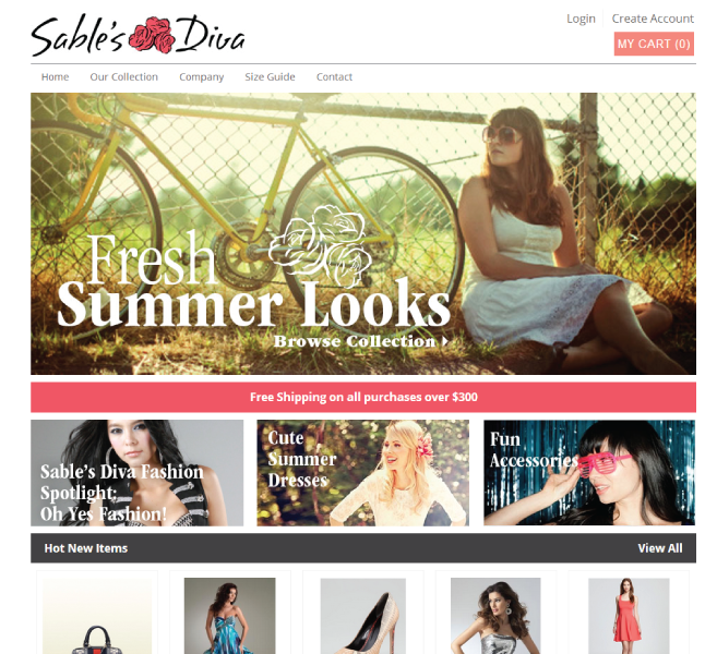 Sables Diva clothing store